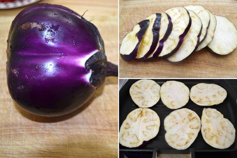 2 tagliare e arrostire melanzane