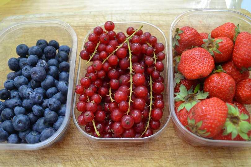 3 frutti di bosco