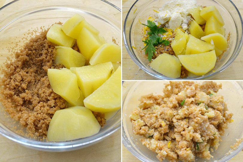3 impastare patate e amaranto