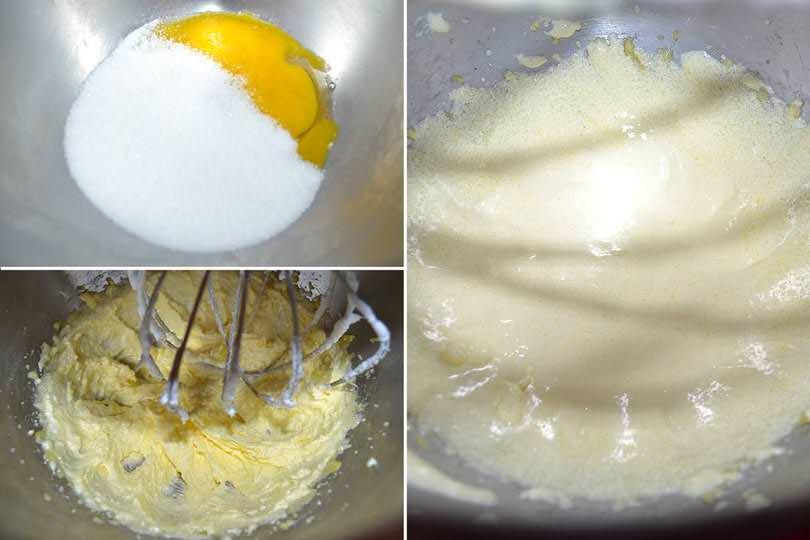 3 montare uova e zucchero