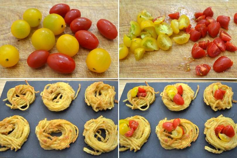 4 aggiungere pomodorini