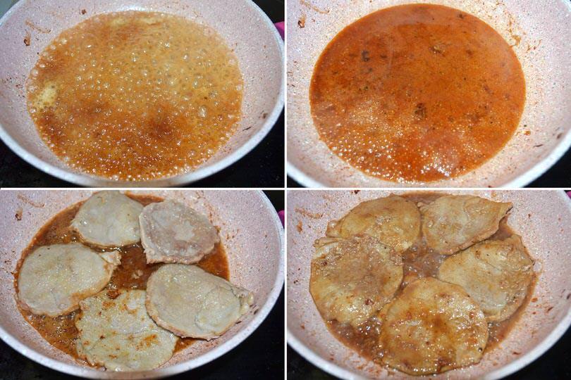 4 rimettere fettine in padella