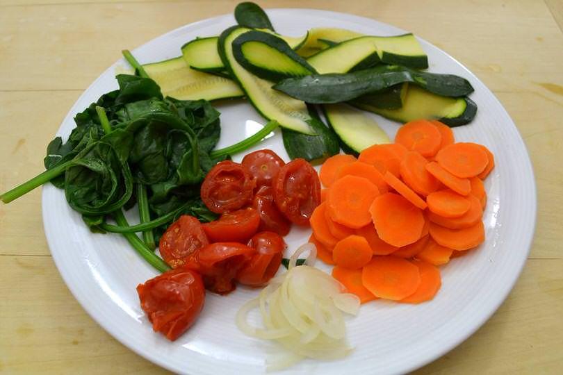 4 verdure cotte al vapore