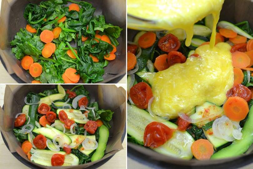 6 uova e verdure