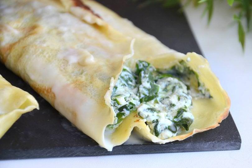 Ricetta crespelle alla ricotta e spinaci