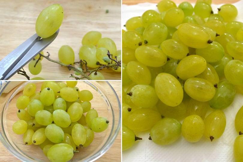 1 tagliare a lavare uva