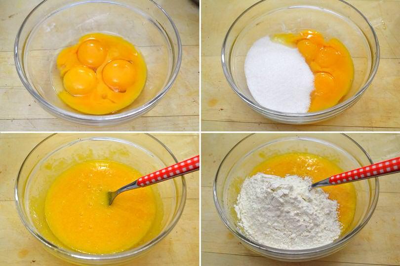 1 uova zucchero farina