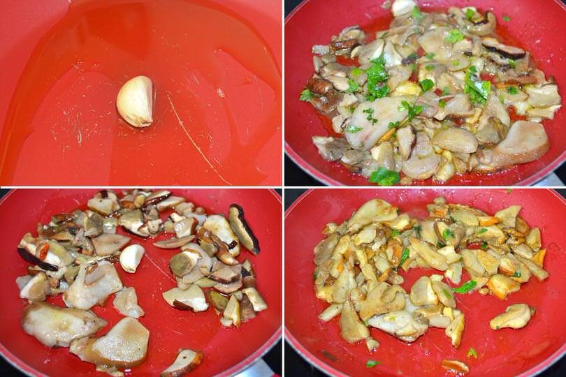 2 funghi porcini in padella