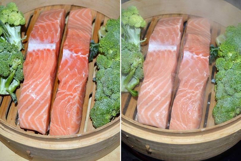 2 salmone nel cestello