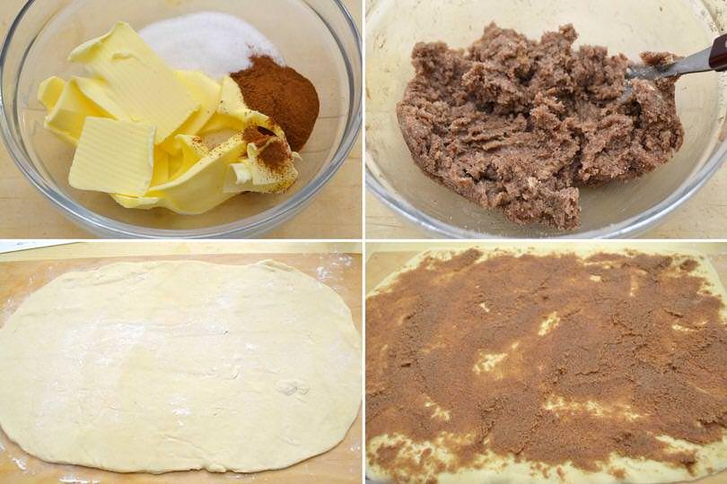 3 zucchero cannella burro