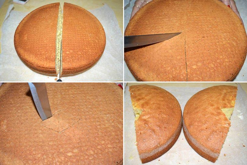 8 tagliare pan di spagna