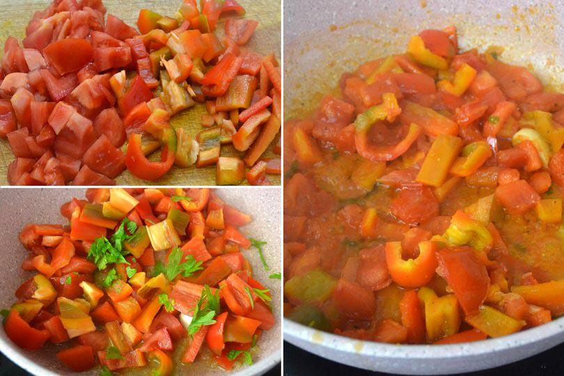 1 pomodoro e peperoni