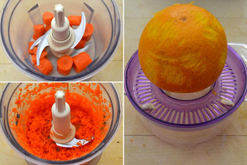 2 carote tritate e succo