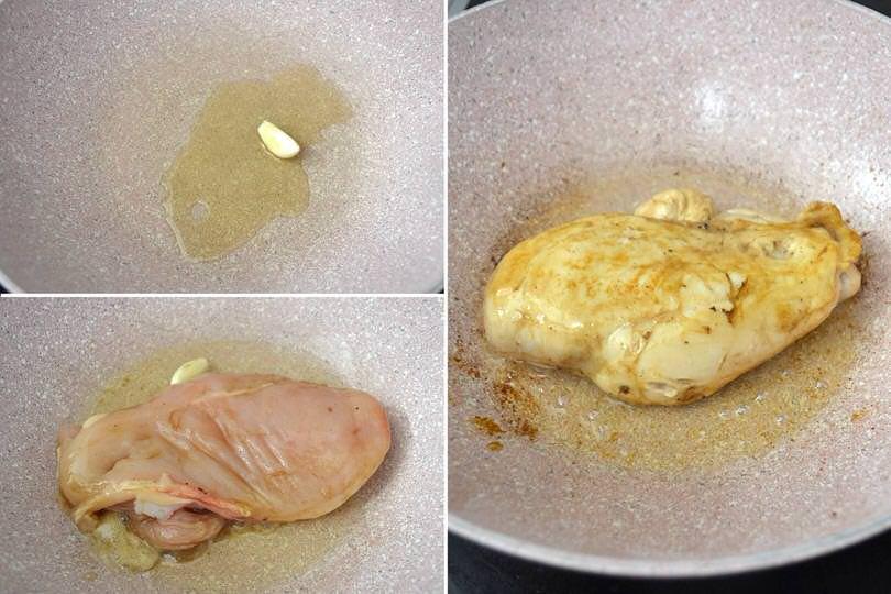 2 cuocere petto di pollo