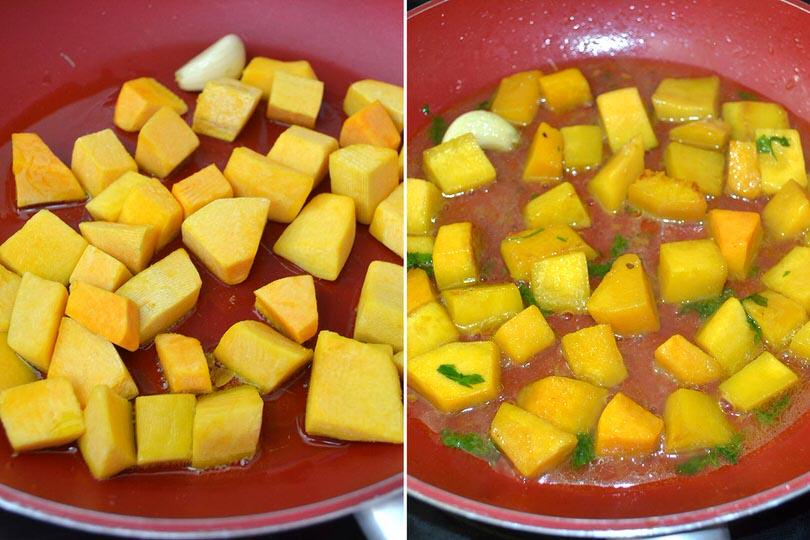 2 cuocere zucca