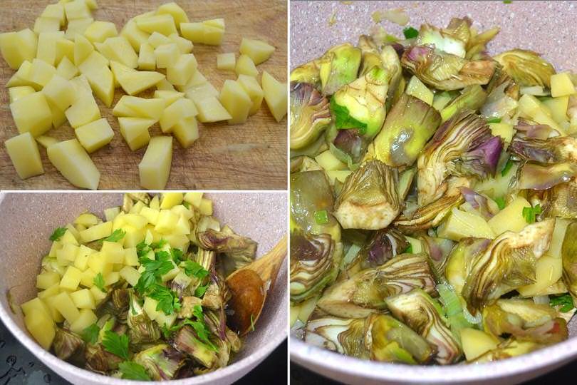 3 aggiungere patate