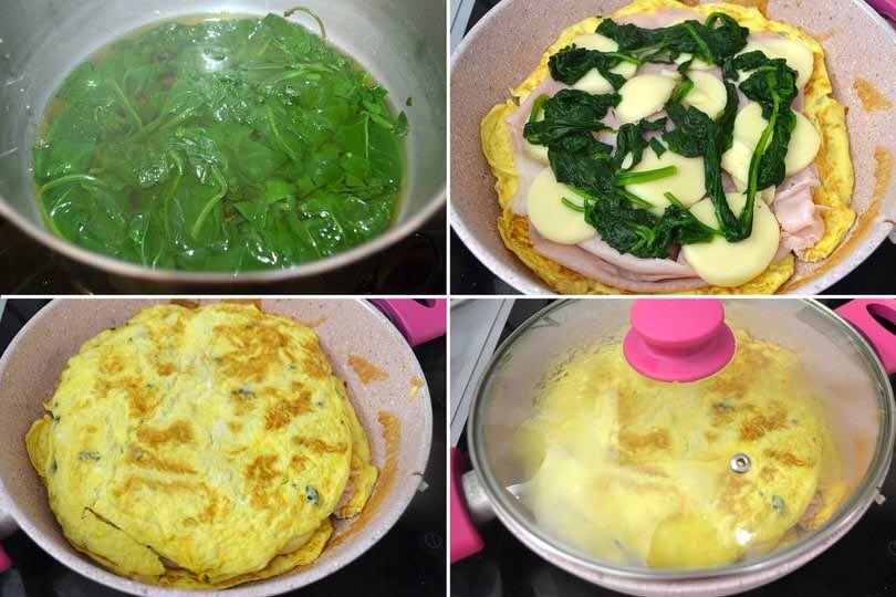 3 agiungere spinaci