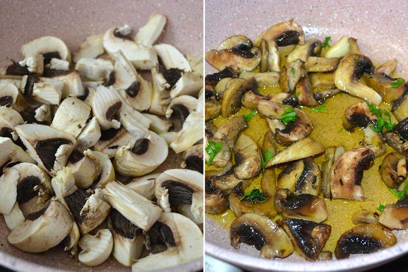 3 cuocere funghi