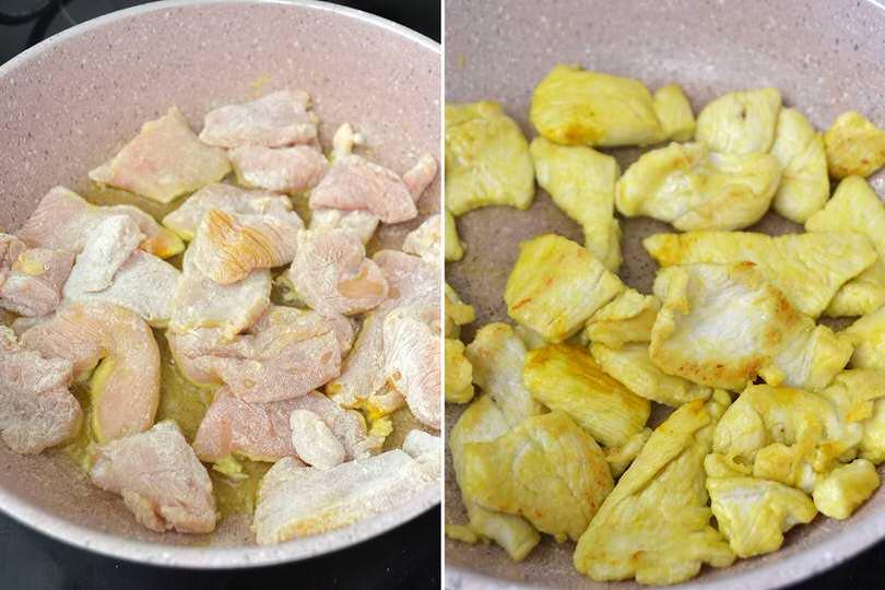 3 cuocere pollo