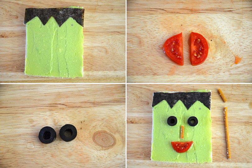 4 aggiungere olive e pomodorino