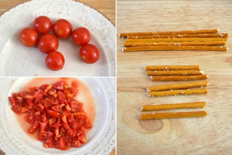 4 tagliare pomodorini