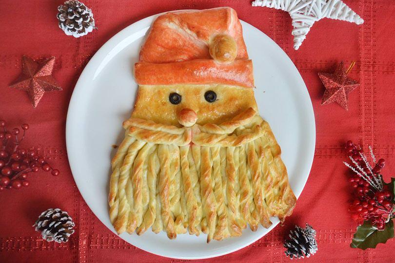 Antipasti A Forma Di Babbo Natale.Babbo Natale Di Pane Ricetta Babbo Natale Di Pane Di Misya