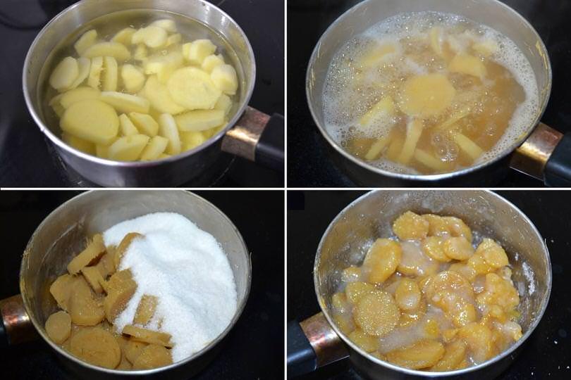 2 bollire e aggiungere zucchero
