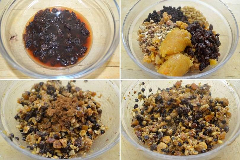 3 amalgamare frutta secca