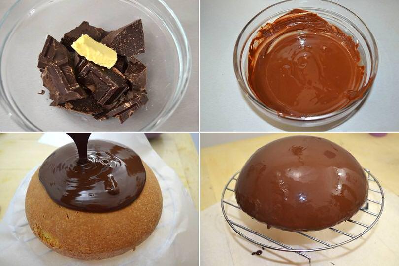 5 glassare con cioccolato