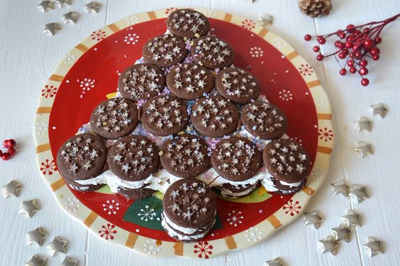 Torta A Forma Di Stella Di Natale.Albero Di Pan Di Stelle