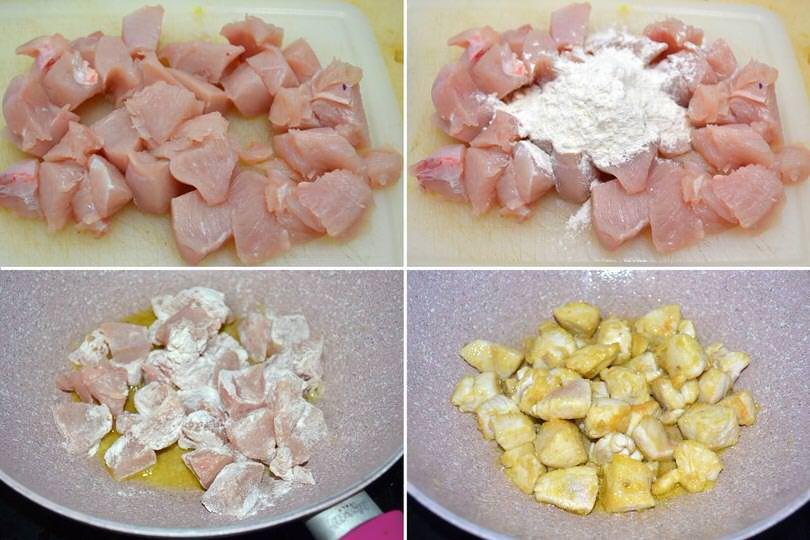 2 cuocere pollo