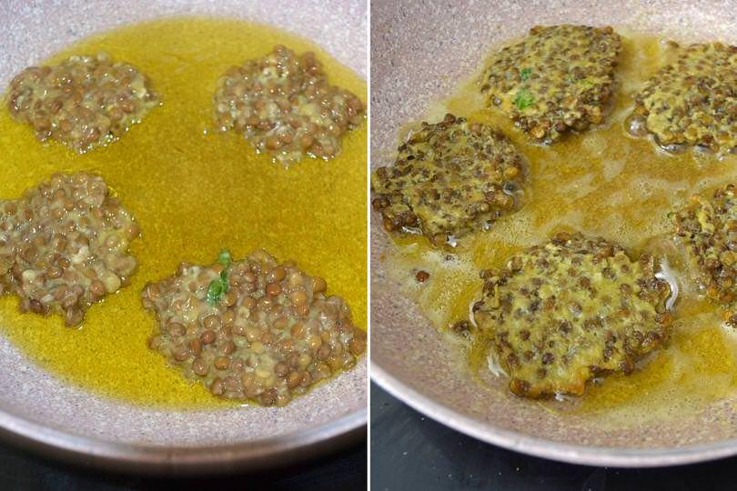2 friggere lenticchie