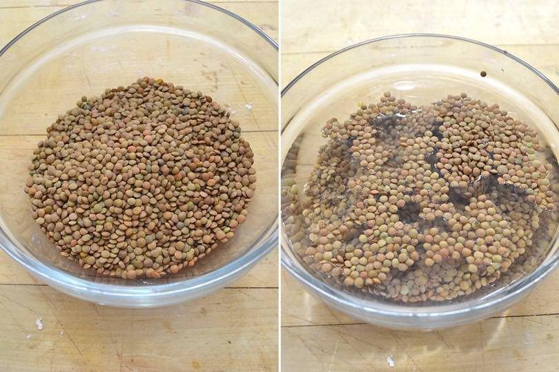 2 lenticchie a bagno