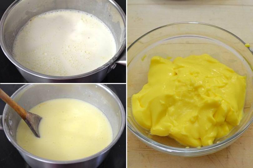 3 cuocere la crema pasticcera