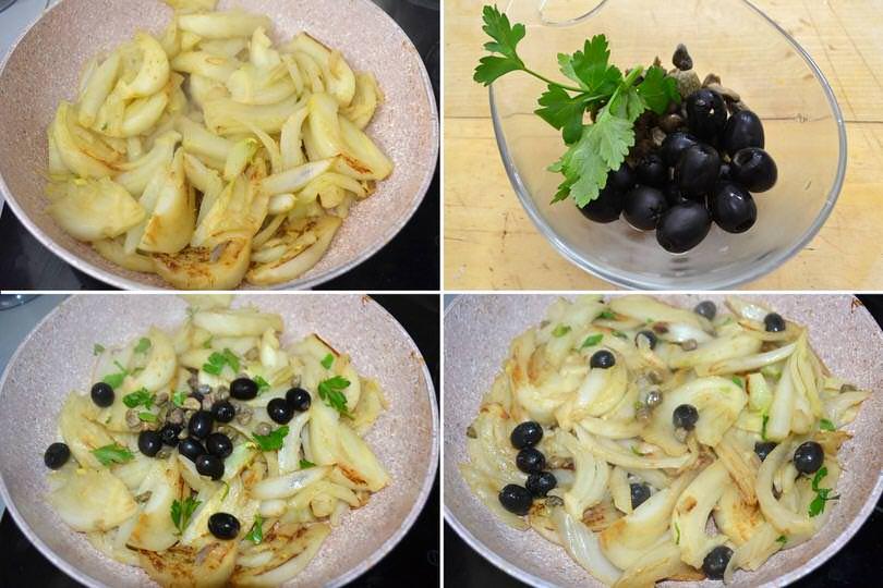 4 aggiungere capper olive