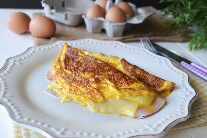 omelette al prosciutto. 1. Ricetta Omelette Bimby