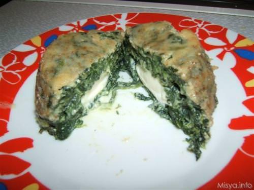 Timballini di spinaci