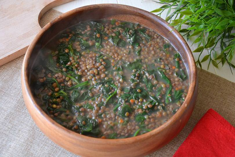Lenticchie e spinaci