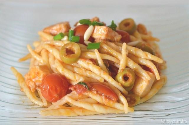 Pasta con pesce spada ricetta pasta con pesce spada di for Ricette pesce facili