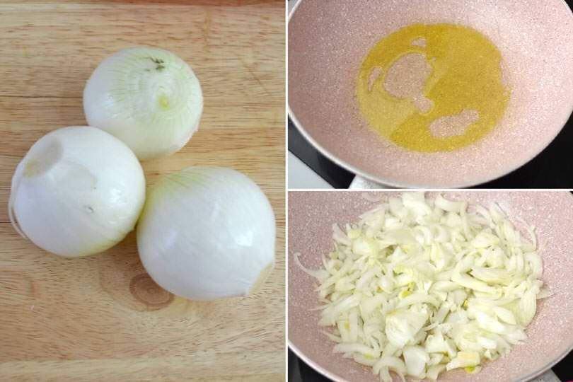 2 tagliare e cuocere cipolle