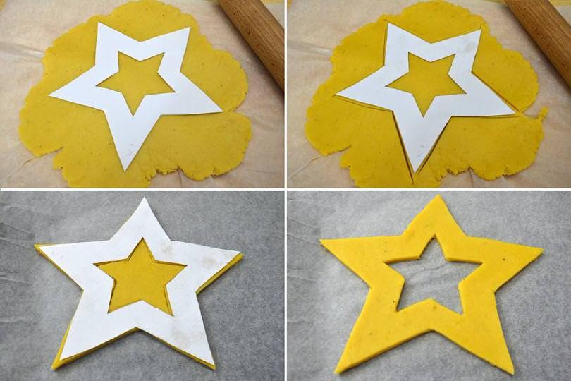 3 ritagliare stella