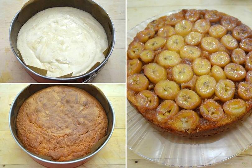 6 cuocere e rovesciare torta