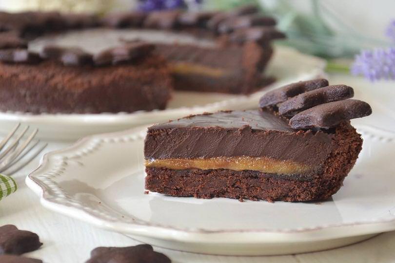 Crostata caramello salato e cioccolato