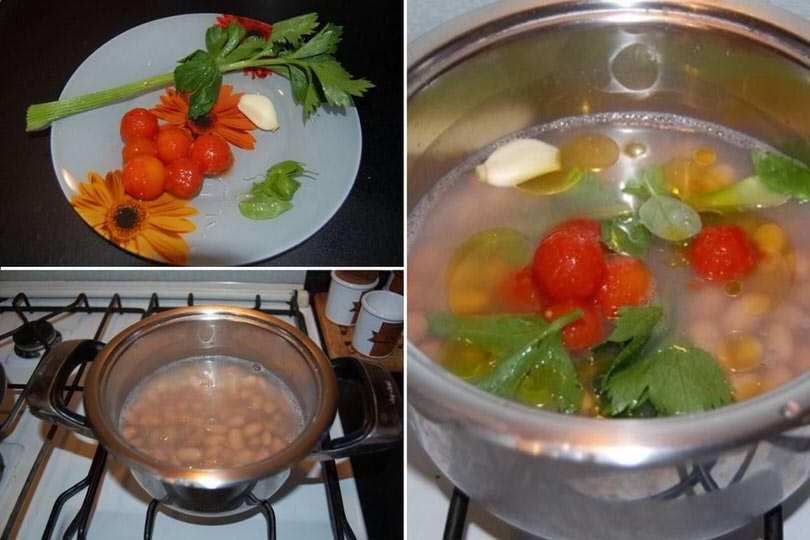 1 cuocere fagioli