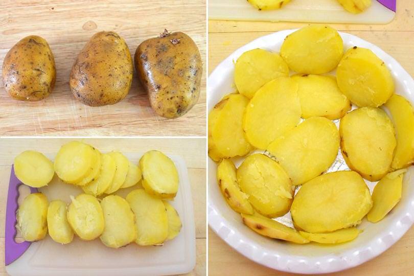 1 cuocere patate