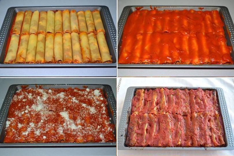 4 cuocere cannelloni