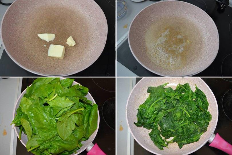 1 cuocere spinaci