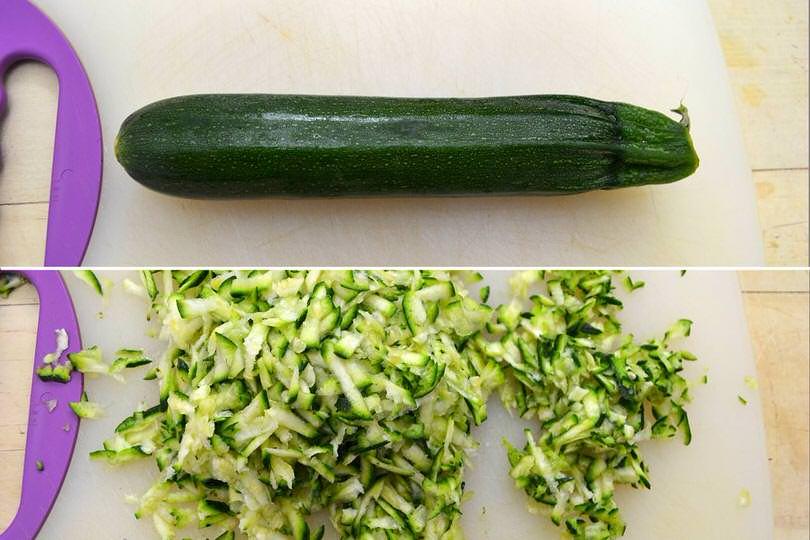 1 grattugiare zucchine