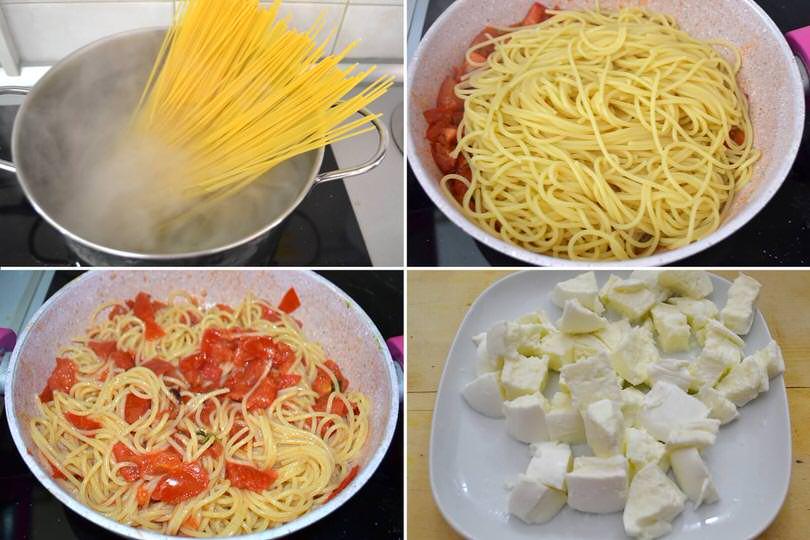 3 cuocere spaghetti