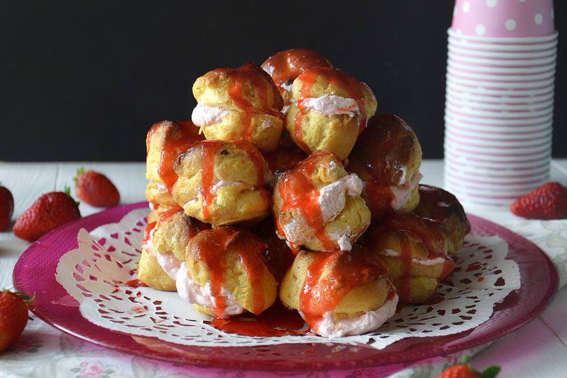Bignè alle fragole